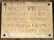 plaque commemorative therese pierre fougeres