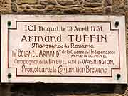 plaque commemorative armand tuffin fougeres