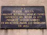 plaque commemorative jeanne jugan saint-malo