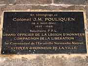 plaque commemorative j.m. pouliquen saint-malo
