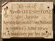 plaque commemorative mireille chrisostome saint-brieuc