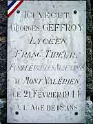 plaque commemorative georges geffroy saint-brieuc