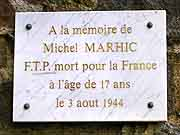 plaque commemorative michel marhic saint-brieuc
