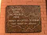 plaque commemorative tour de france 1995 saint-brieuc